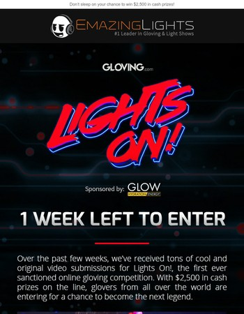 Last call for the biggest online gloving competition ever