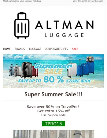 Super Summer Sale - Save up to 80%