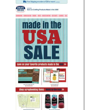 Made in the USA Sale - Save on Products Made Right Here