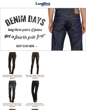 Langston's Denim Days Sale (Ends Soon)