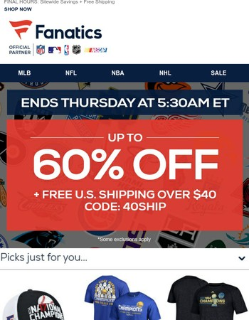 3... 2... 1... Beat The Clock To Score 60% Off