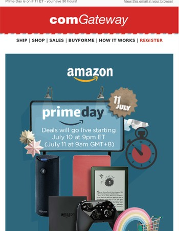Mary, it's Black Friday in July: Amazon's Prime Day is here!