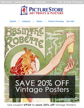 Learn About Vintage Poster Art [+20% off Vintage Posters]