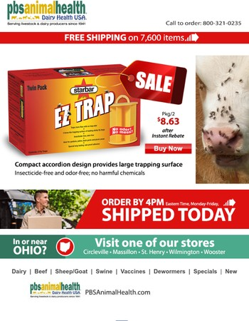 Instant rebate on Starbar's EZ Trap Fly Trap