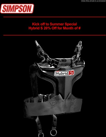 Hybrid S Head Restraint 20% Off During the Month of July