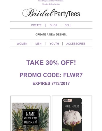 30% Off - Get A Unique Gift For The Wedding!