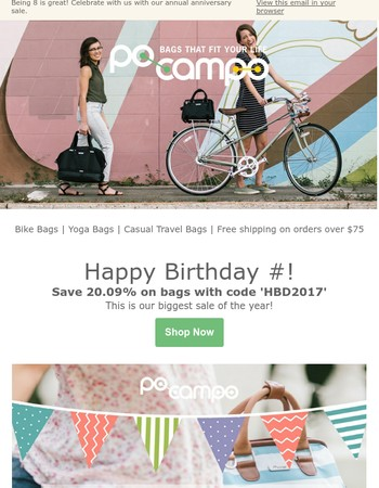 Anniversary Sale starts today! Save 20.09% with code HBD2017