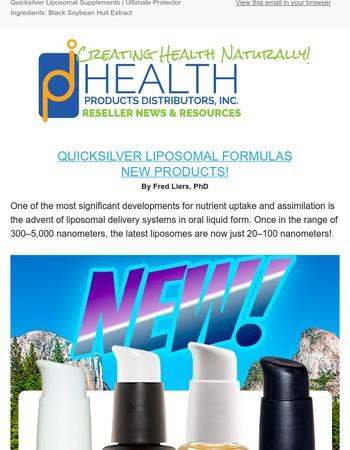 NEW! Quicksilver Liposomal Supplements