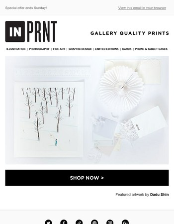 INPRNT Free Shipping Weekend!