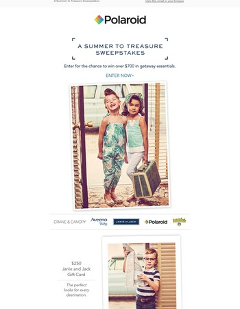 Enter to Win a Summer to Treasure Sweepstakes!