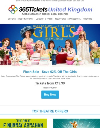Flash Sale! The Girls TheatreTickets Only £19.99!
