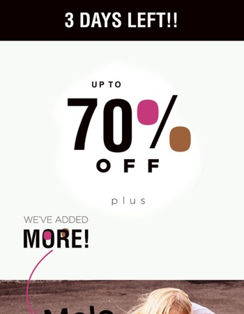 MORE SALE?? YES!