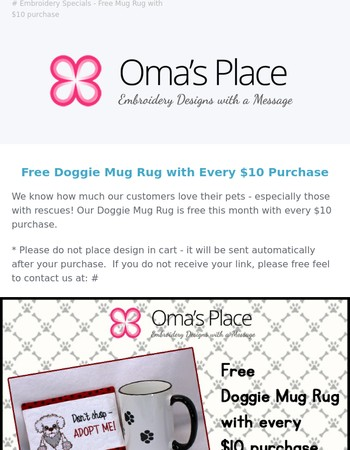Free Mug Rug! ☕ Details Inside.