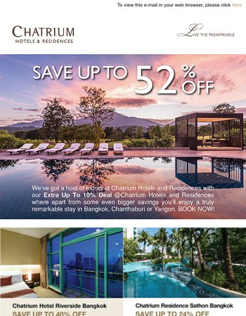 Extra up to 10% Deal @ Chatrium