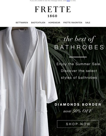 The Best of Bathrobes! Now up to 50% OFF