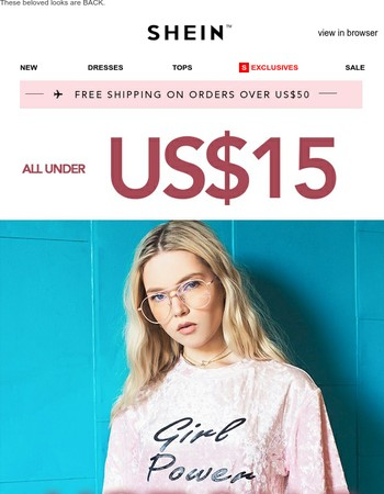 All Under US$15! Back To Sale: Hot & Cheap