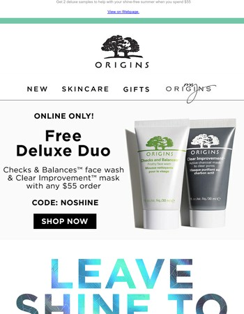 FREE Deluxe Duo + The Secret to Shine-Free Summer Skin