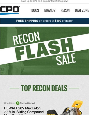 24 Hour Recon Flash Sale Starts Now!