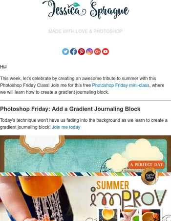 It's Time for Another FREE Photoshop Friday Mini Class!