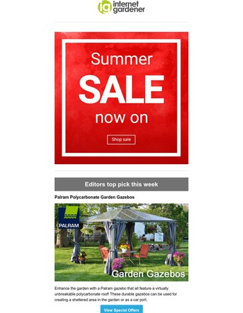 Going, going...GONE! Quick, garden furniture is selling out fast!