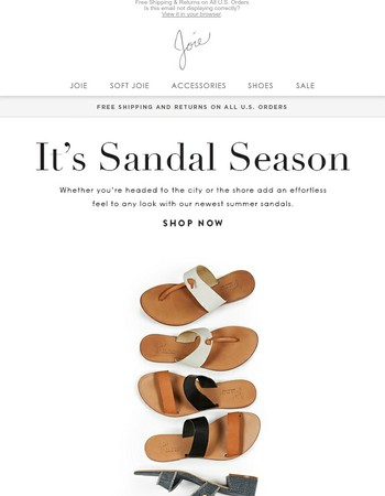 6 Sandals To Get You Excited for Summer