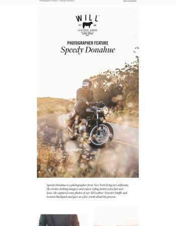 Photographer Feature - Speedy Donahue