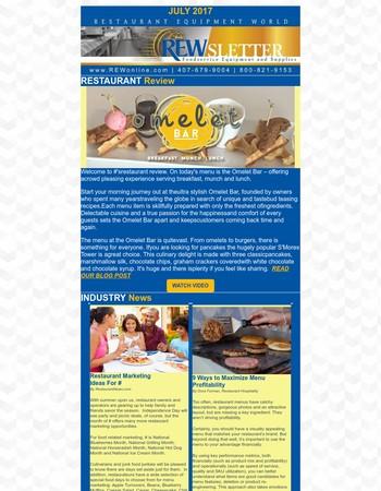 REW July Newsletter