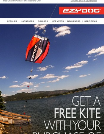 Get A FREE Kite With Your Purchase!