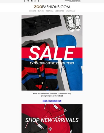 Extra 20% Off Selected Sale Items