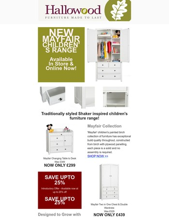 Check Out ourNewMayfair Range Introductory Offer up to 25% OFF