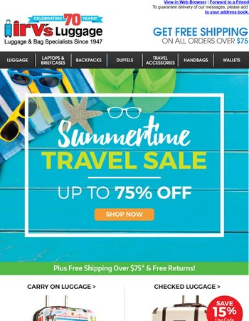 ☀ Don't Miss this SUN-sational Travel Sale!