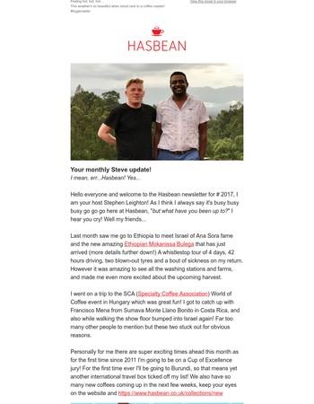Hasbean July 2017 Newsletter