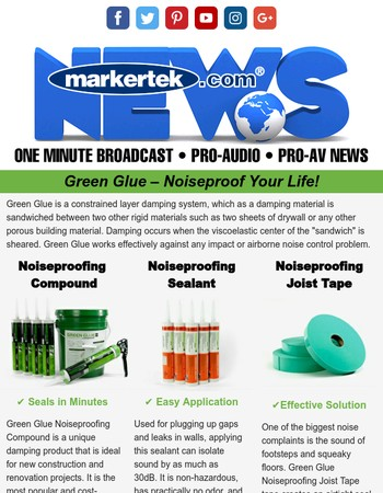Hear the Difference with Green Glue!