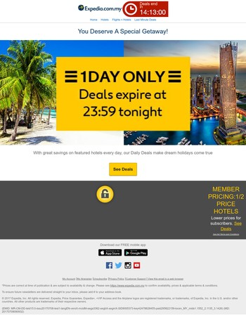 You've scored! We picked you to enjoy this: Expedia makes holiday dreams come true :-)