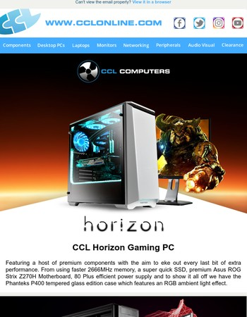 CCL Gaming & Workstation PCs, Motherboard Promos and More Great Deals & Offers at CCLOnline.com!