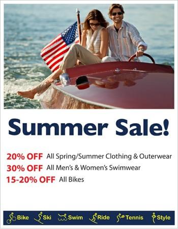 ⛱  Bike, Clothing & Swimwear SALE: 15-30% OFF
