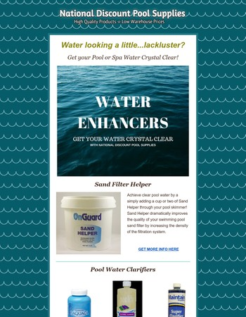 Enhance your Pool and Spa Water