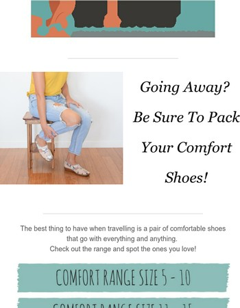 Going Away? Pack Your Comfort Shoes
