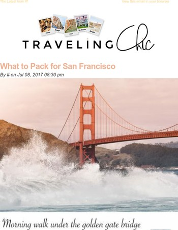Traveling Chic: What to Pack for San Francisco
