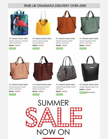 Vegan and Fair Bags Now Up to 50% Off