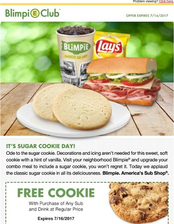FREE COOKIE TO CELEBRATE SUGAR COOKIE DAY!