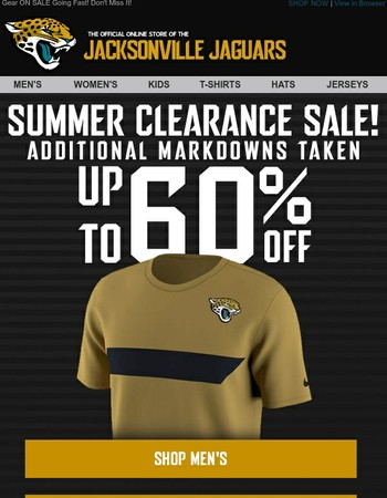 Don't Miss Jaguars Looks Up to 60% Off!