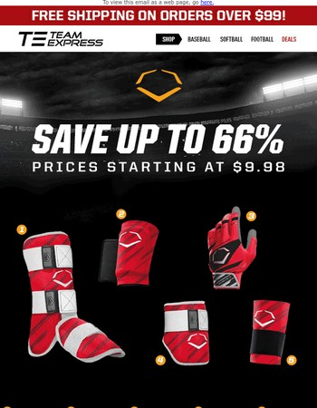 Save Up to 66% - Huge Evoshield Sale Prices Starting at $9.98