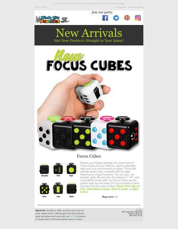 Glide, Flip, Click, Roll, Breathe & Spin our new Focus Cubes