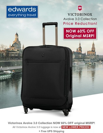 Price Reduction! 60% OFF Original MSRP on Victorinox Avolve 3.0 Luggage + Free Shipping!