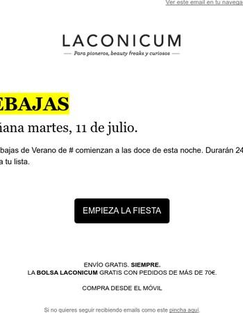Mañana, Rebajas de Verano en Laconicum