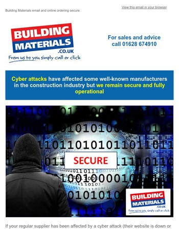 Cyber attacks affecting well-known manufacturers in construction industry