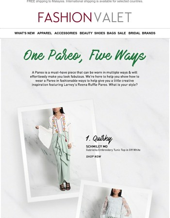One Pareo, FIVE ways! What is your favourite style?
