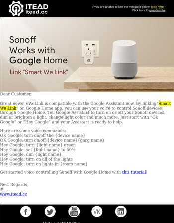 [ITEAD Studio] Sonoff Works With Google Home Now!