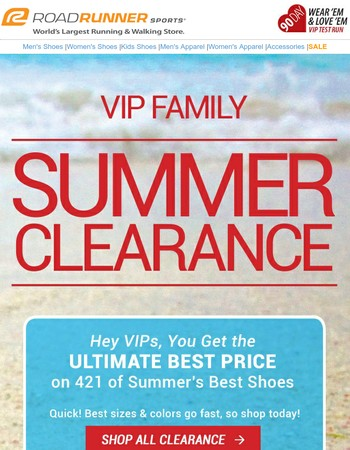 VIP, Your Time's Ticking On Summer's Best Clearance Sale
